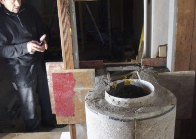 07.11.2019 Remontage du pierre ollaire restauré