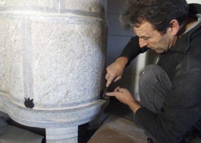 11 nov. 2019 Pierre ollaire, nettoyage des scellements des grenades-agrafes